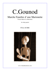 Cover icon of Funeral March of a Marionette (f.score) sheet music for string quartet by Charles Gounod, classical score, intermediate/advanced skill level