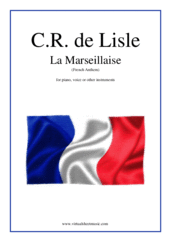 Cover icon of La Marseillaise - French National Anthem sheet music for piano, voice or other instruments by Claude Rouget De Lisle, easy skill level