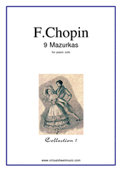 Cover icon of Mazurkas Op.6 and Op.7 (collection 1) sheet music for piano solo by Frederic Chopin, classical score, easy skill level