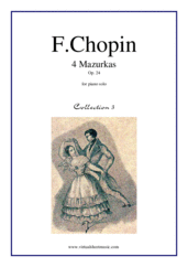 Cover icon of Mazurkas Op.24 (collection 3) sheet music for piano solo by Frederic Chopin, classical score, easy/intermediate skill level