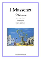 Cover icon of Meditation from Thais (NEW EDITION) sheet music for flute and piano by Jules Massenet, classical wedding score, intermediate skill level