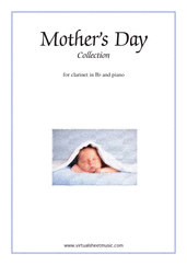 Cover icon of Mother's Day Collection, sweet and amusing compositions sheet music for clarinet and piano, classical score, intermediate skill level