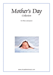 Cover icon of Mother's Day Collection, sweet and amusing compositions sheet music for flute and piano, classical score, intermediate skill level
