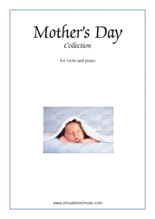 Cover icon of Mother's Day Collection, sweet and amusing compositions sheet music for viola and piano, classical score, intermediate skill level