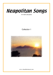Cover icon of Neapolitan Songs, coll. 1 sheet music for violin and piano, classical score, easy skill level
