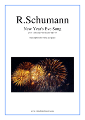 Cover icon of New Year's Eve Song sheet music for viola and piano by Robert Schumann, classical score, intermediate skill level