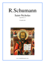 Cover icon of Saint-Nicholas Op.68 No.12 in A minor sheet music for guitar solo by Robert Schumann, classical score, intermediate/advanced skill level