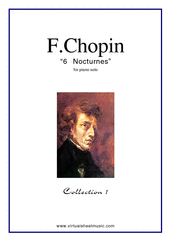 Cover icon of Nocturnes (collection 1) sheet music for piano solo by Frederic Chopin, classical score, advanced skill level
