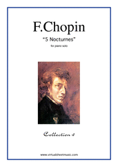 Cover icon of Nocturnes (collection 4) sheet music for piano solo by Frederic Chopin, classical score, advanced skill level
