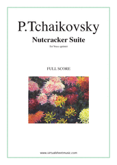 Cover icon of Nutcracker Suite (f.score) sheet music for brass quintet by Pyotr Ilyich Tchaikovsky, classical score, intermediate/advanced skill level