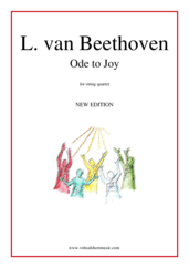 Cover icon of Ode to Joy sheet music for string quartet by Ludwig van Beethoven, classical score, easy skill level