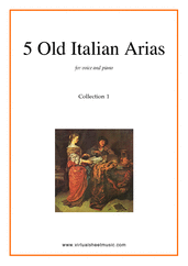 Cover icon of Old Italian Arias - coll. 1 sheet music for voice and piano, classical score, easy skill level