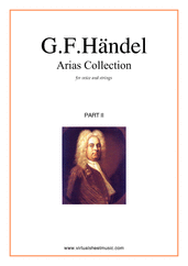 Cover icon of Arias Collection, part II (parts) sheet music for voice and other instruments by George Frideric Handel, classical score, intermediate orchestra