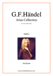 Cover icon of Arias Collection, part II (COMPLETE) sheet music for voice and other instruments by George Frideric Handel, classical score, intermediate orchestra