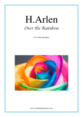 Over the Rainbow for violin and piano - wedding pop sheet music