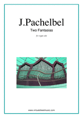 Cover icon of Fantasias, 2 sheet music for organ solo by Johann Pachelbel, classical score, intermediate/advanced skill level