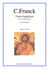 Cover icon of Panis Angelicus (in C major) sheet music for voice and piano by Cesar Franck, classical wedding score, easy skill level