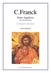 Cover icon of Panis Angelicus sheet music for string quartet or string orchestra by Cesar Franck, classical wedding score, easy skill level