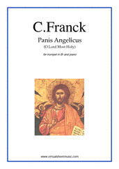 Cover icon of Panis Angelicus sheet music for trumpet and piano by Cesar Franck, classical wedding score, easy skill level