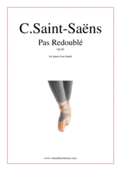 Cover icon of Pas Redouble Op.86 sheet music for piano four hands by Camille Saint-Saens, classical score, intermediate skill level