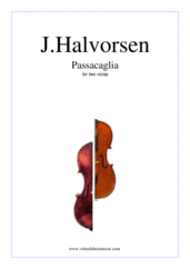 Cover icon of Passacaglia on a theme by G.F.Handel sheet music for two violas by Johan Halvorsen, classical score, intermediate/advanced duet