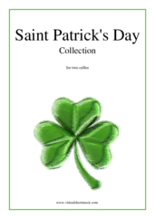 Cover icon of Saint Patrick's Day Collection, Irish Tunes and Songs sheet music for two cellos, easy duet