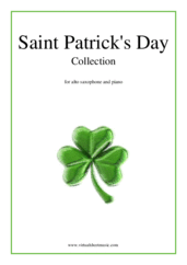 Cover icon of Saint Patrick's Day Collection, Irish Tunes and Songs sheet music for alto saxophone and piano, easy skill level