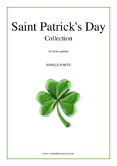 Cover icon of Saint Patrick's Day Collection, Irish Tunes and Songs (parts) sheet music for brass quintet, easy/intermediate skill level