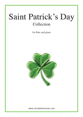 Cover icon of Saint Patrick's Day Collection, Irish Tunes and Songs sheet music for flute and piano, easy skill level