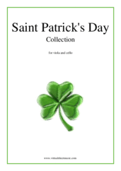 Cover icon of Saint Patrick's Day Collection, Irish Tunes and Songs sheet music for viola and cello, easy skill level