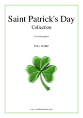 Saint Patrick's Day Collection, Irish Tunes and Songs (COMPLETE) for wind quartet - oboe band sheet music