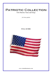 Cover icon of Patriotic Collection, USA Tunes and Songs (f.score) sheet music for brass quintet, intermediate skill level