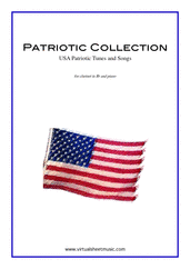 Cover icon of Patriotic Collection, USA Tunes and Songs sheet music for clarinet and piano, easy skill level