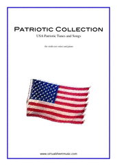 Patriotic Collection, USA Tunes and Songs for violin (or voice) and piano - easy samuel francis smith sheet music