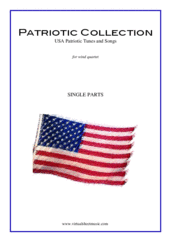 Cover icon of Patriotic Collection, USA Tunes and Songs (parts) sheet music for wind quartet, intermediate skill level
