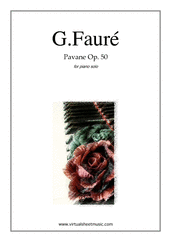Cover icon of Pavane Op.50 sheet music for piano solo by Gabriel Faure, classical score, intermediate skill level