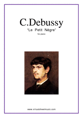 Cover icon of Le Petit Negre sheet music for piano solo by Claude Debussy, classical score, easy skill level