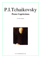 Cover icon of Pezzo Capriccioso, Op.62 sheet music for cello and piano by Pyotr Ilyich Tchaikovsky, classical score, intermediate skill level