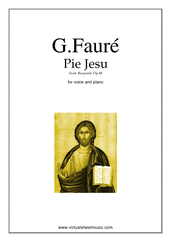 Pie Jesu (Blessed Jesu) for voice and piano - classical voice sheet music