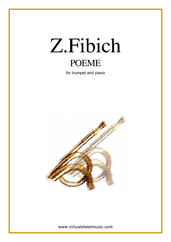 Cover icon of Poeme sheet music for trumpet and piano by Zdenek Fibich, classical score, easy/intermediate skill level