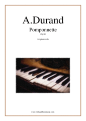 Cover icon of Pomponnette Op.80 sheet music for piano solo by Auguste Durand, classical score, intermediate skill level