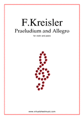 Praeludium and Allegro, in the style of G.Pugnani for violin and piano - advanced violin sheet music