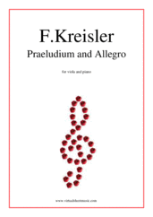 Cover icon of Praeludium and Allegro sheet music for viola and piano by Fritz Kreisler, classical score, intermediate/advanced skill level