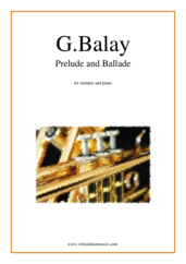 Cover icon of Prelude and Ballade sheet music for trumpet and piano by Guillaume Balay, classical score, intermediate/advanced skill level