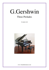 Three Preludes for piano solo - george gershwin piano sheet music
