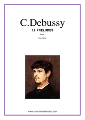 Cover icon of Preludes, book I sheet music for piano solo by Claude Debussy, classical score, intermediate/advanced skill level