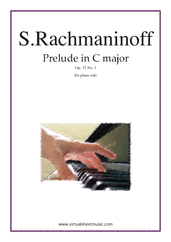 Cover icon of Prelude in C major Op.32 No.1 sheet music for piano solo by Serjeij Rachmaninoff, classical score, advanced skill level