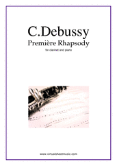 Cover icon of Premiere Rhapsody sheet music for clarinet and piano by Claude Debussy, classical score, intermediate/advanced skill level