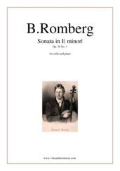 Cover icon of Sonata in E minor Op.38 No.1 sheet music for cello and piano by Bernhard Romberg, classical score, intermediate skill level