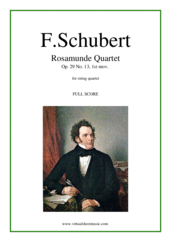 Cover icon of Rosamunde Quartet, 1st mov.  (f.score) sheet music for string quartet by Franz Schubert, classical score, advanced skill level